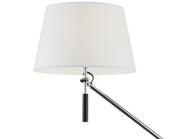Franklite Adjustable Floor Lamp, Chrome Finish With Fabric Shade - SL231