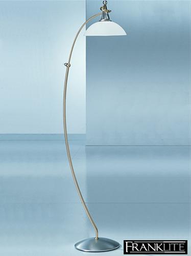 Franklite Asti Gold Satin Nickel Floor Standing Lamp Sl608 From Easy Lighting