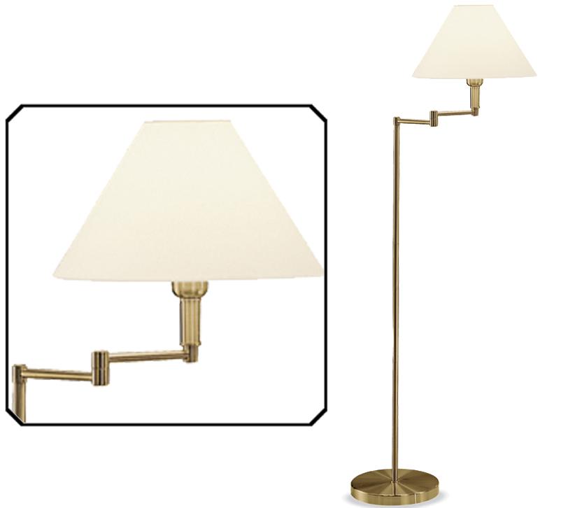 Franklite swing arm floor lamp bronze finish with cream shade franklite swing arm floor lamp bronze finish with cream shade sl662 aloadofball Images