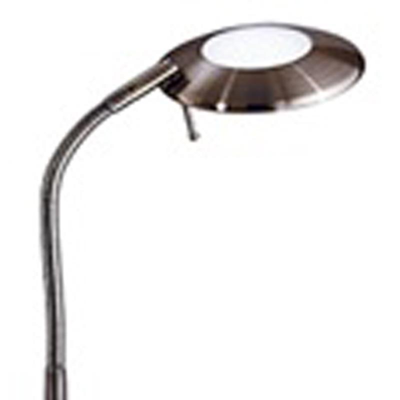 Franklite halogen floor lamp bronze finish with adjustable head sl679