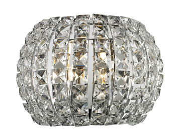 Azzardo Sophia Wall Light, Chrome Finish With Crystals - AZ2520