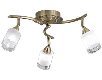 Franklite Campani Silver 3 Light Ceiling Spotlight Bronze Finish With Clear Edged Acid Adjustable Glasses