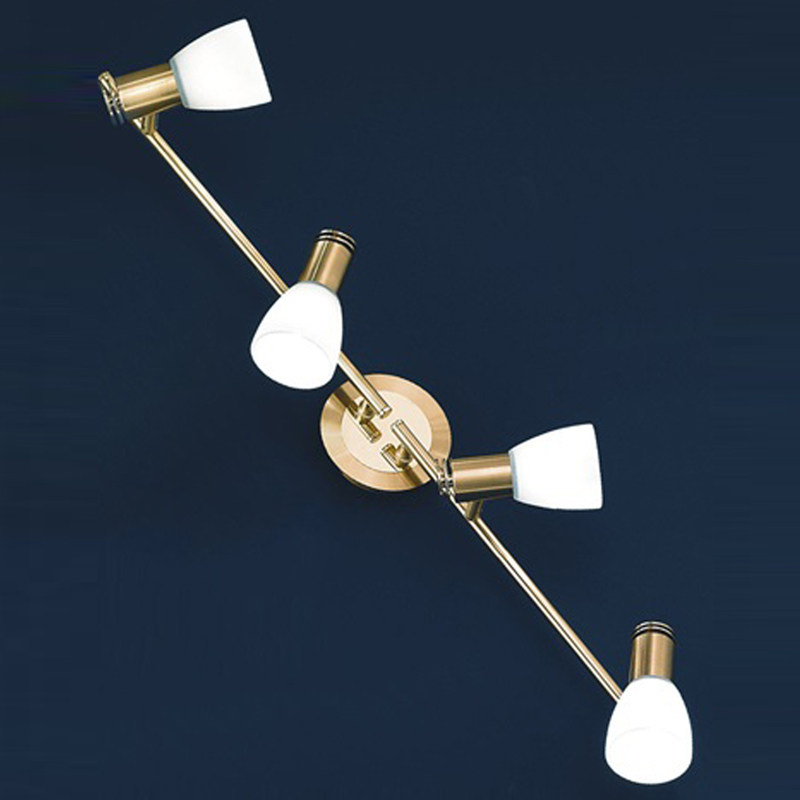 Four bar spot lights from easy lighting franklite quintet gold polished satin brass finish 4 light spotlight fitting spot8784 aloadofball Image collections