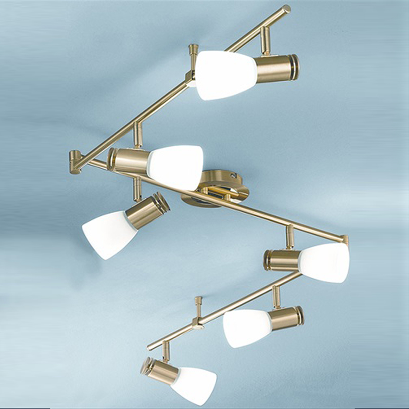 Five and six light spotlights from easy lighting franklite quintet gold polished satin brass finish 6 light spotlight fitting spot8786 aloadofball Image collections