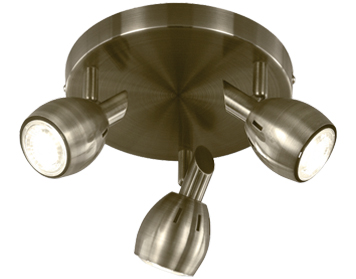 Franklite Tivoli 3 Light Plate Spotlight Bronze Finish