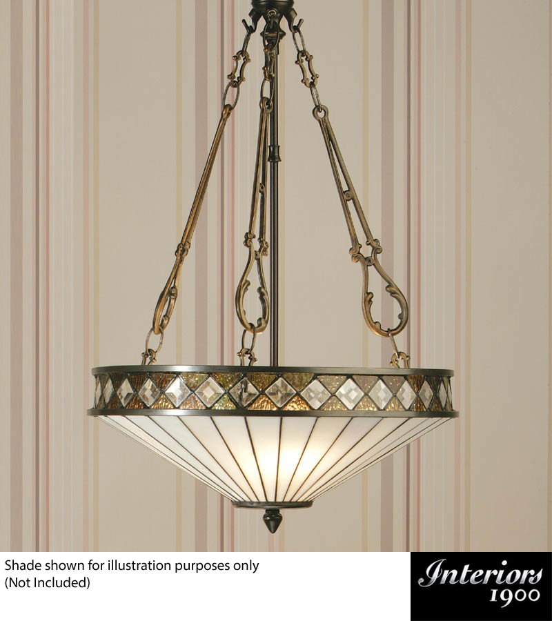 Interiors 1900 Inverted 3 Light Pendant Fitting Only