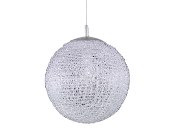 Azzardo Sweet 25 Pendant Light, White Acrylic & Chrome Finish - AZ0446