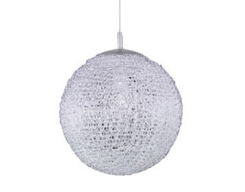 Azzardo Sweet 40 Pendant Light, White Acrylic & Chrome Finish - AZ0444