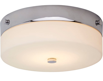 Elstead Tamar 1 Light Medium Bathroom Flush Ceiling Light, Polished Chrome Finish - TAMAR/F/M PC