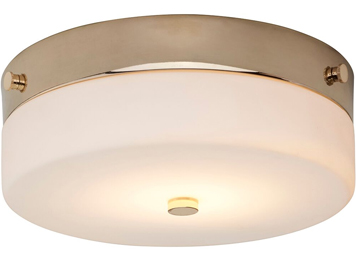 Elstead Tamar 1 Light Medium Bathroom Flush Ceiling Light, Polished Gold Finish - TAMAR/F/M PG