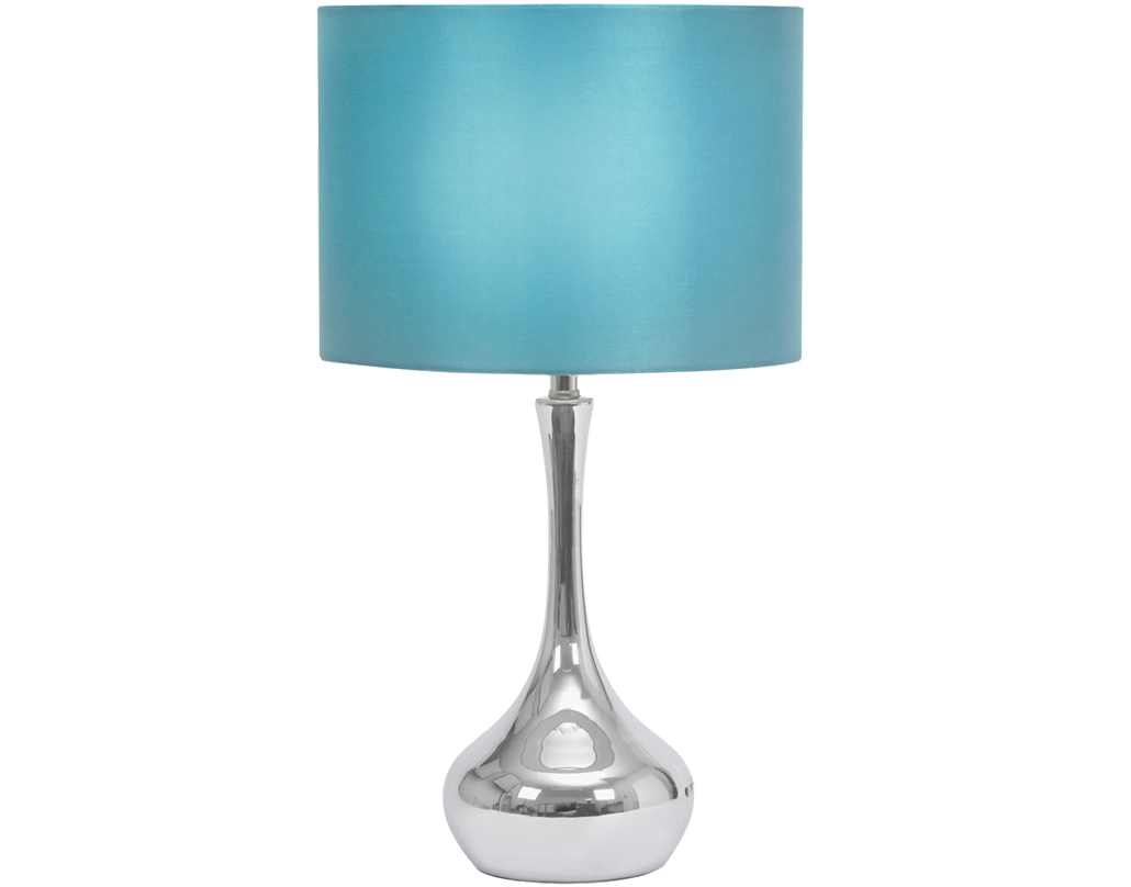 Oaks Lighting Juno Touch Table Lamp, Blue Finish - TL 101 BL