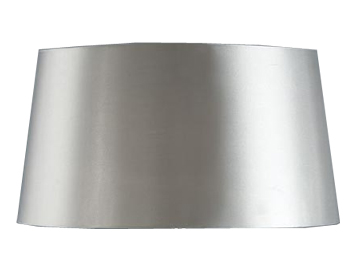 Interiors 1900 New Classic Tapered Oval Shade, Grey Faux Silk Fabric - TL1SHG
