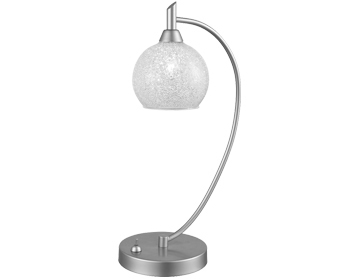 Franklite Chrysalis Table Lamp, Chrome With Small Clear Glasses - TL500