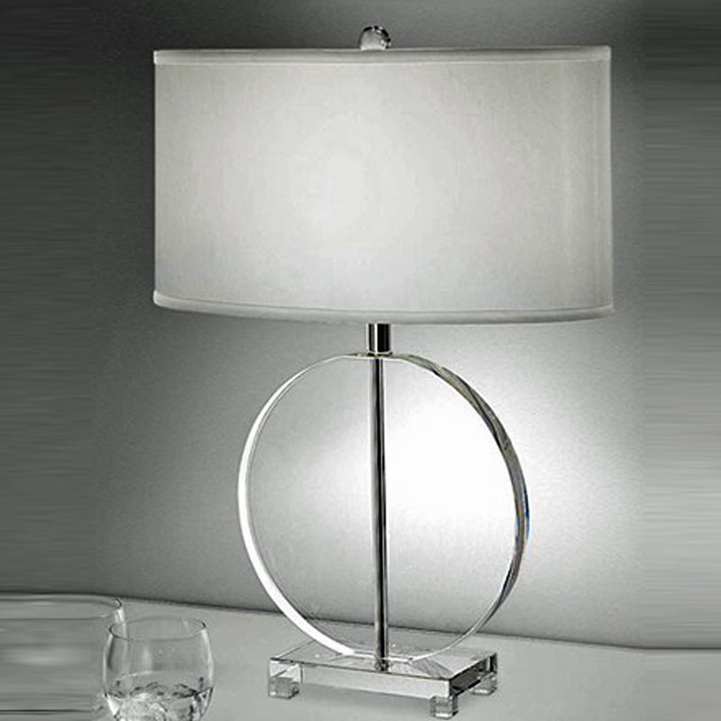 Franklite the hugo collection oval trimmed shade crystal glass table lamp tl878