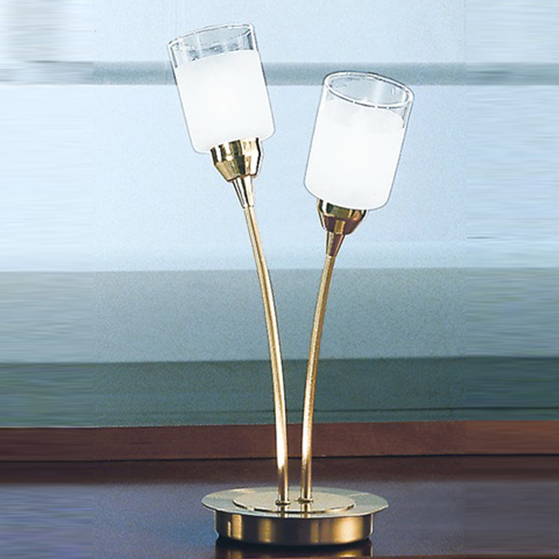 Crystal and glass table lamps from easy lighting franklite campani gold polished satin brass finish 2 light table lamp tp94012 aloadofball Images