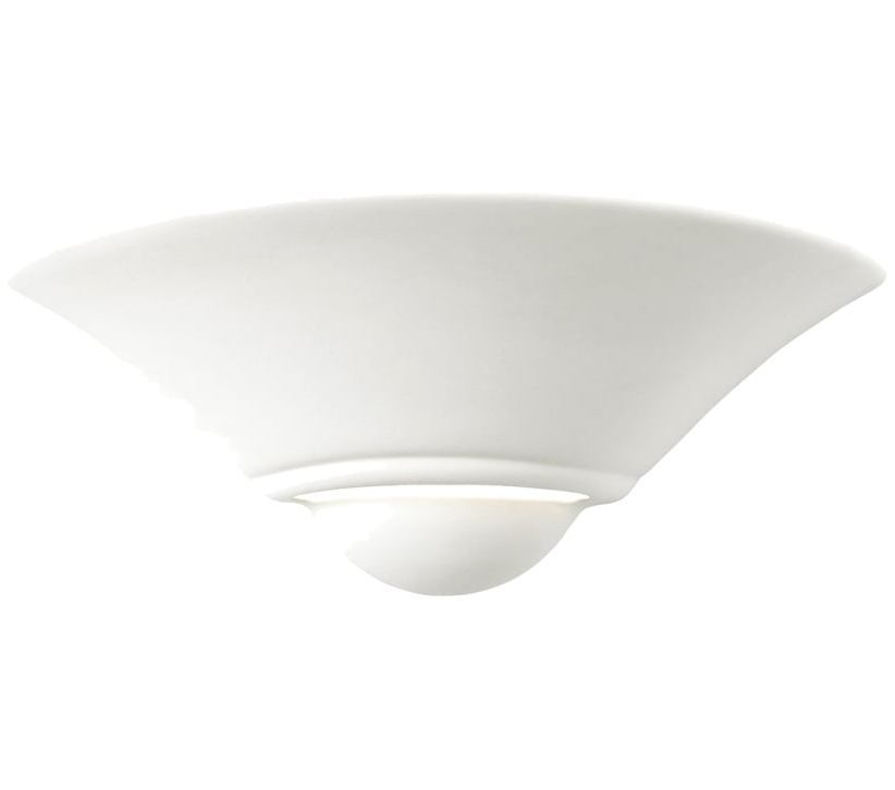 Endon Mayfair 1 Light Wall Light, Unglazed Ceramic Finish - SALE-UG-WB-7 Special Offer
