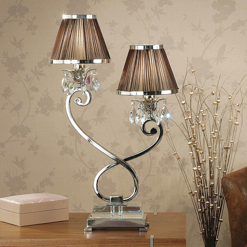 Interiors 1900 oksana base only 1 light mini table lamp interiors 1900 oksana base only 2 light bedside table lamp polished mozeypictures Choice Image