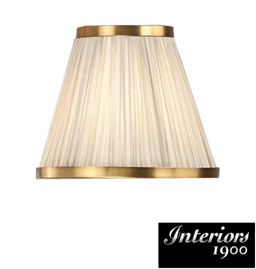 Interiors 1900 Tapered Cylinder Table Lamp Shade, Beige Faux Silk ...