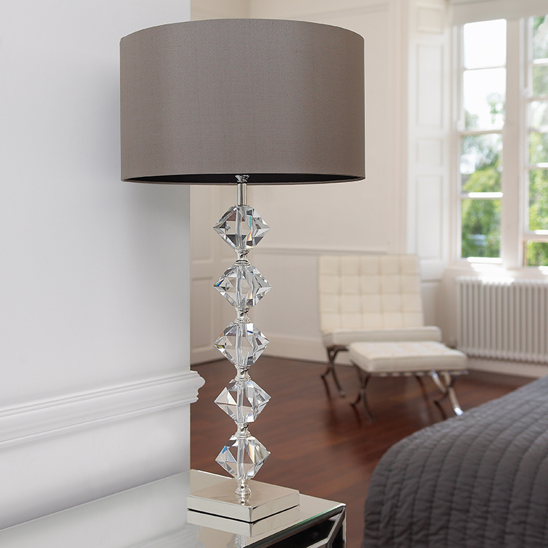Endon 'Arinto' Table Lamp With Taupe Shade, Antique Chocolate ...