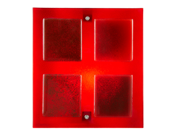 Endon Verner Red Glass Wall Washer Light - VERNER-1WBRE
