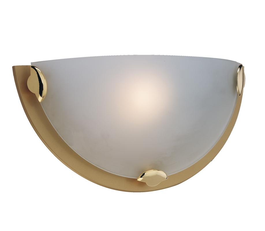Satin Brass Wall Lights : Firstlight Champagne Wall Light, Satin Brass - W200SB from Easy Lighting