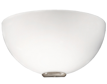 Franklite 1 Light Wall Uplighter, Satin Nickel Base With Opal Glass - WB060/908