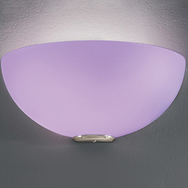 Franklite Vetross Matt White/Lilac Glass & Satin Nickel, Uplighter Fitting - WB060/951