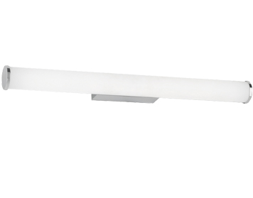 Franklite 1 Light LED Bathroom Wall Light, Chrome Finish With Opal Polycarbonate Diffuser - WB063