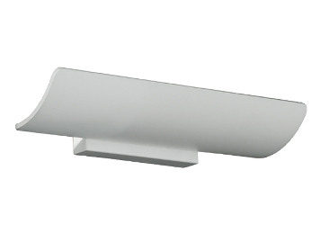 Franklite LED Wall Uplighter (375mm), Matt White Metal - WB068