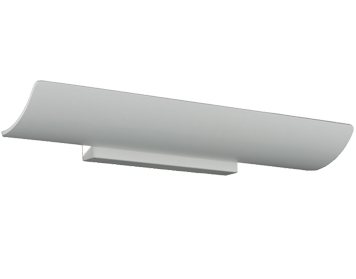 Franklite LED Wall Uplighter (540mm), Matt White Metal - WB069