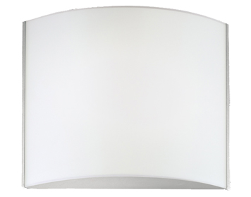 Franklite 2 Light Wall Uplighter, Satin Nickel With Matt Opal Glass - WB070