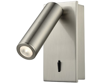 Franklite LED Surface Mounted Reading Light, Satin Nickel Finish - WB071