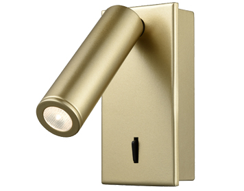 Franklite LED Recessed Reading Light, Matt Gold Finish - WB076