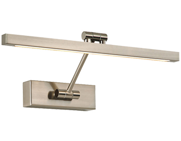 Franklite LED Picture Light (380mm) With Adjustable Arm, Satin Nickel Finish - WB085