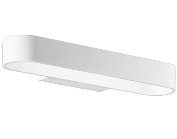 Franklite LED Up & Down Wall Uplighter, White Metal - WB1039