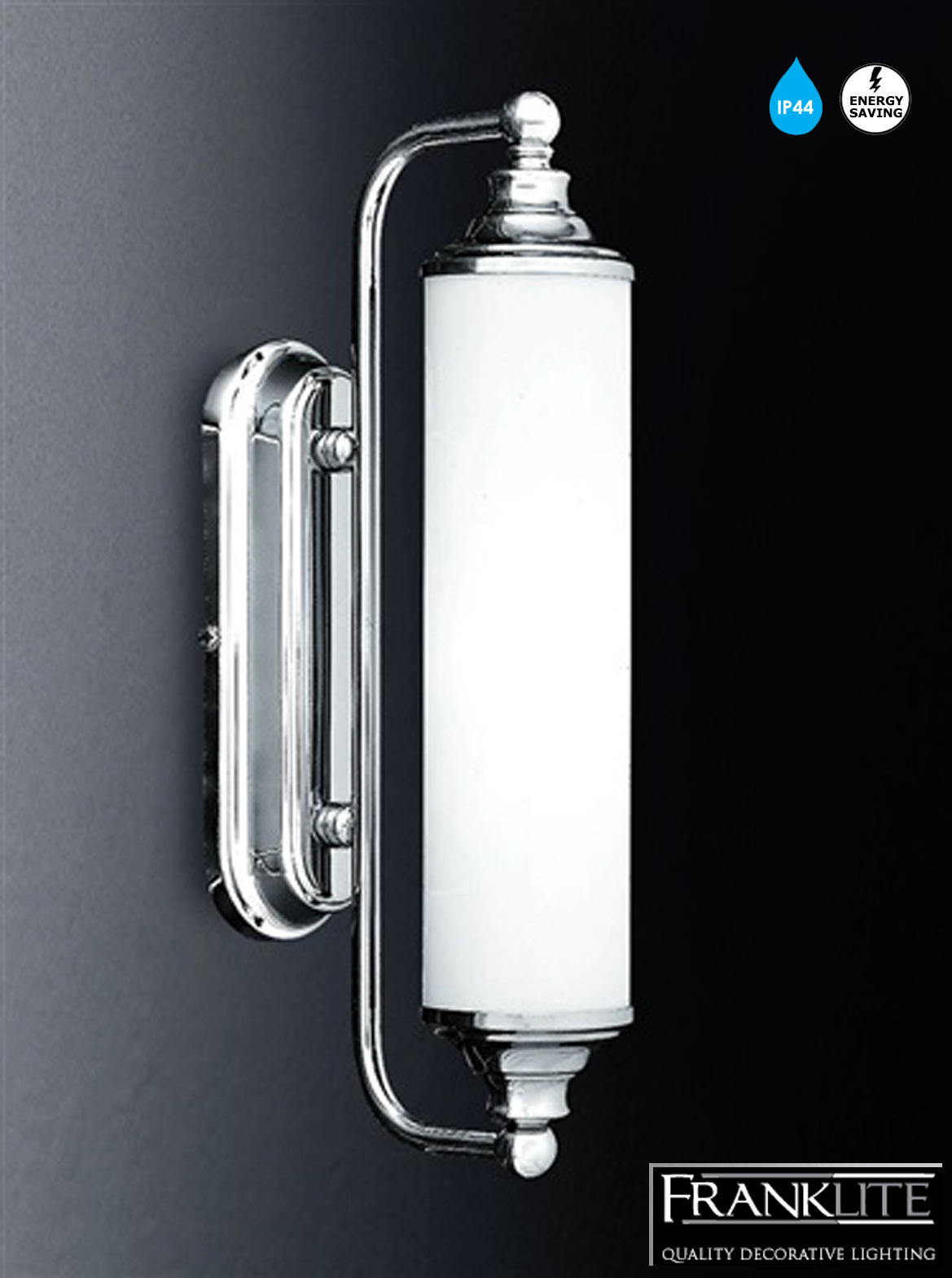 Franklite Low Energy Glass Chrome Ip44 Bathroom Single Mirror Wall Light Wb157el 363 From