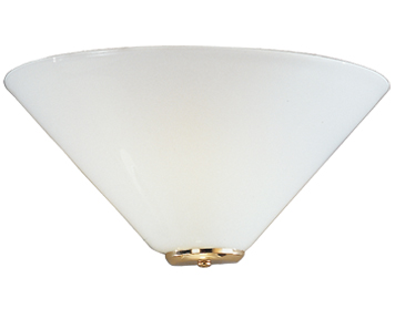 Franklite 1 Light Wall Uplighter, Brass Finish With Opal Glass - WB241/484