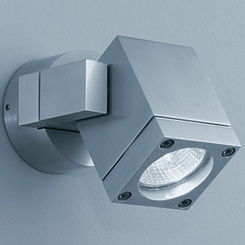 Franklite Nocturn Exterior Brushed Aluminium Spotlight Wall Fitting -  WB573