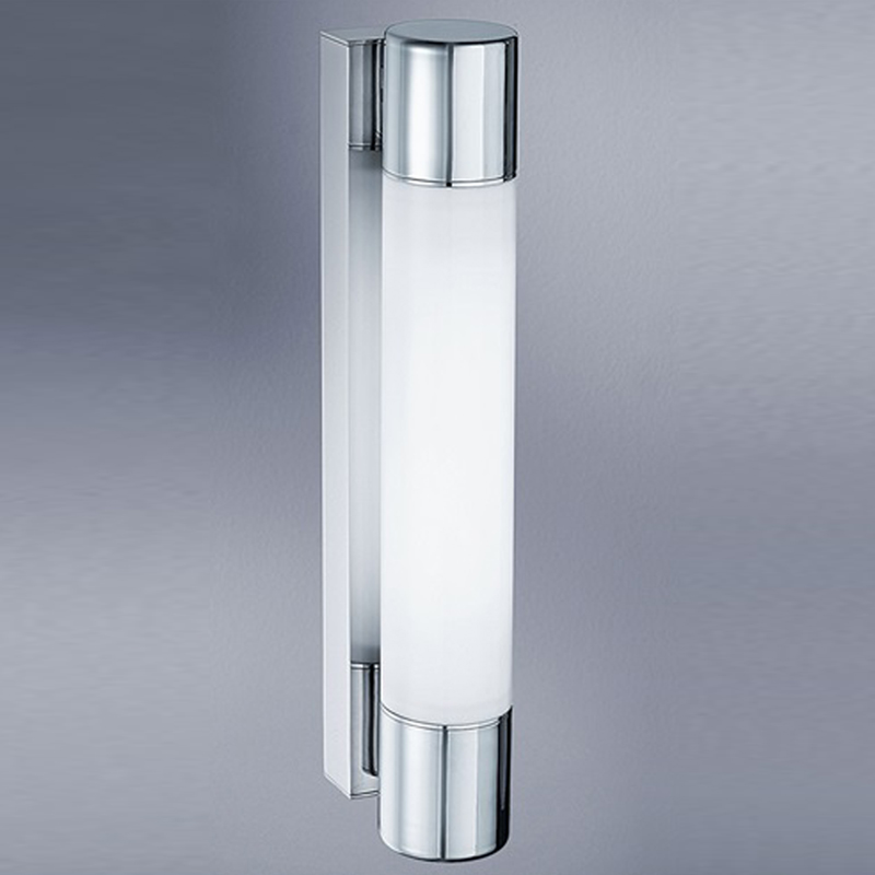Franklite Low Energy Bathroom Single Wall Light, Glass & Chrome - WB594EL