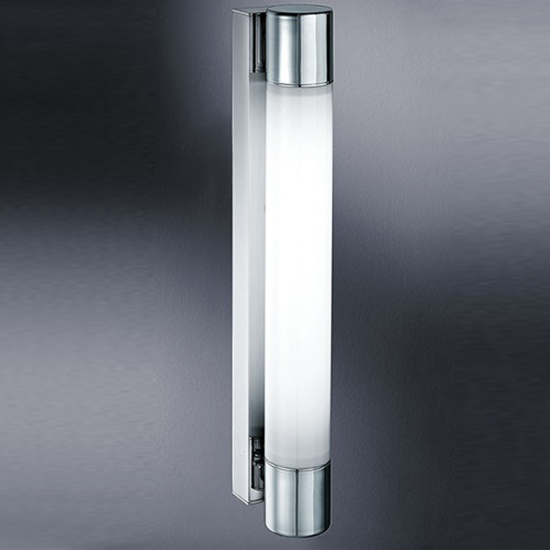 Franklite Low Energy  Bathroom Single Wall Light, Glass & Chrome - WB595EL