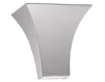 Franklite 1 Light Uplighter Wall Light, Paintable Ceramic - WB911