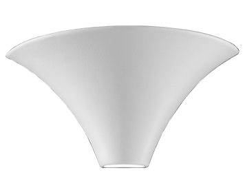 Franklite 1 Light Wall Uplighter, Paintable Ceramic - WB998