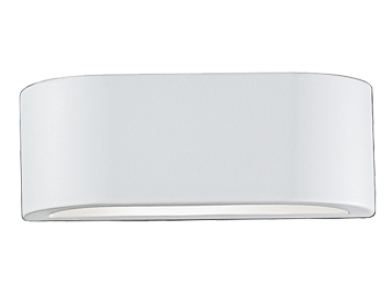 Franklite 1 Light Uplighter Wall Light, Paintable Ceramic Finish - WB999