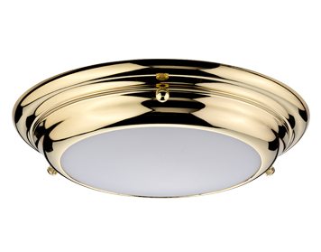 Elstead Welland Mini 1 Light LED Flush Light, Polished Brass Finish - WELLAND/F/S PB