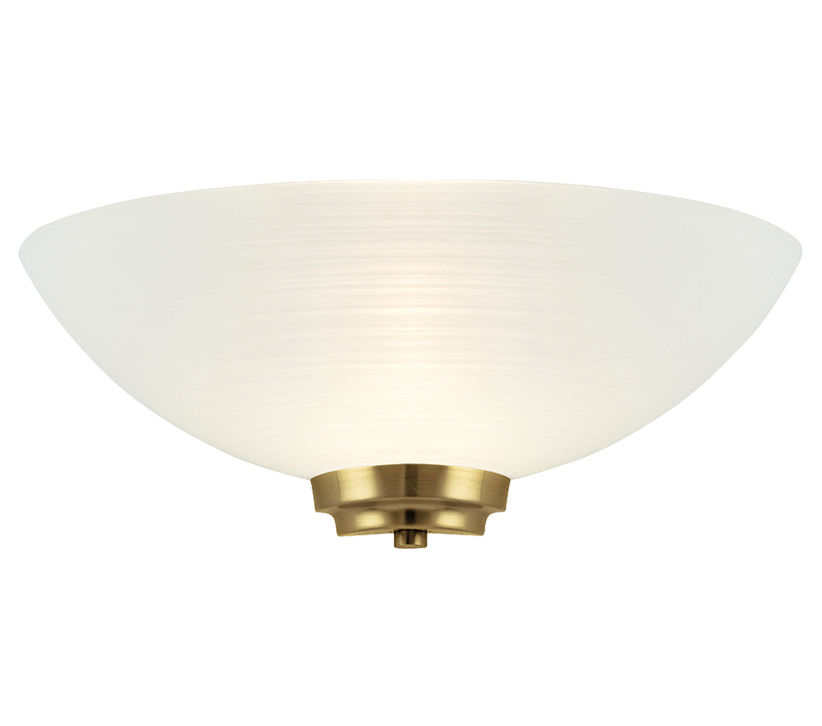 Endon Welles 1 Light Wall Uplighter, Antique Brass Finish With White Painted Glass - WELLES-1WBAB None