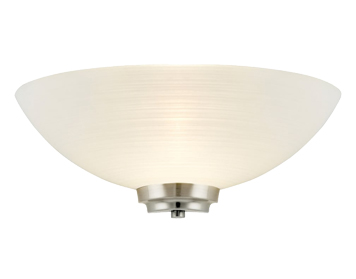 Endon Welles 1 Light Wall Uplighter, Satin Chrome Finish With White Painted Glass - WELLES-1WBSC