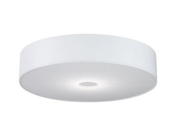 Fabric flush ceiling lights from easy lighting wofi toulouse white lamp shade wofi4132 mozeypictures Image collections