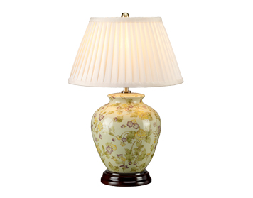 Elstead Yellow Flowers 1 Light Table Lamp, Yellow & Purple Finish - YELLOWFLOWERS/TL