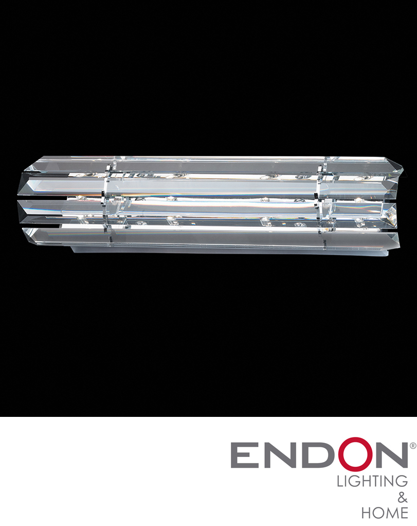 Endon Crystal Wall Lights : Endon Zanetto 4 Light Wall Bracket With Crystal Strips - ZANETTO-S-WBCH from Easy Lighting