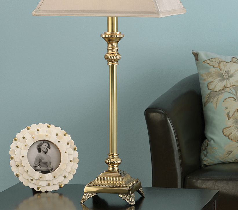 Wilmington Brass Finished Table Lamp